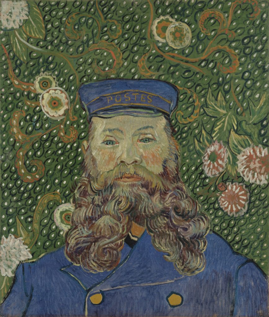 Vincent van Gogh Portrait of Joseph Roulin Arles, early 1889, MoMA, New York, Vincent van Gogh Portrait of Joseph Roulin