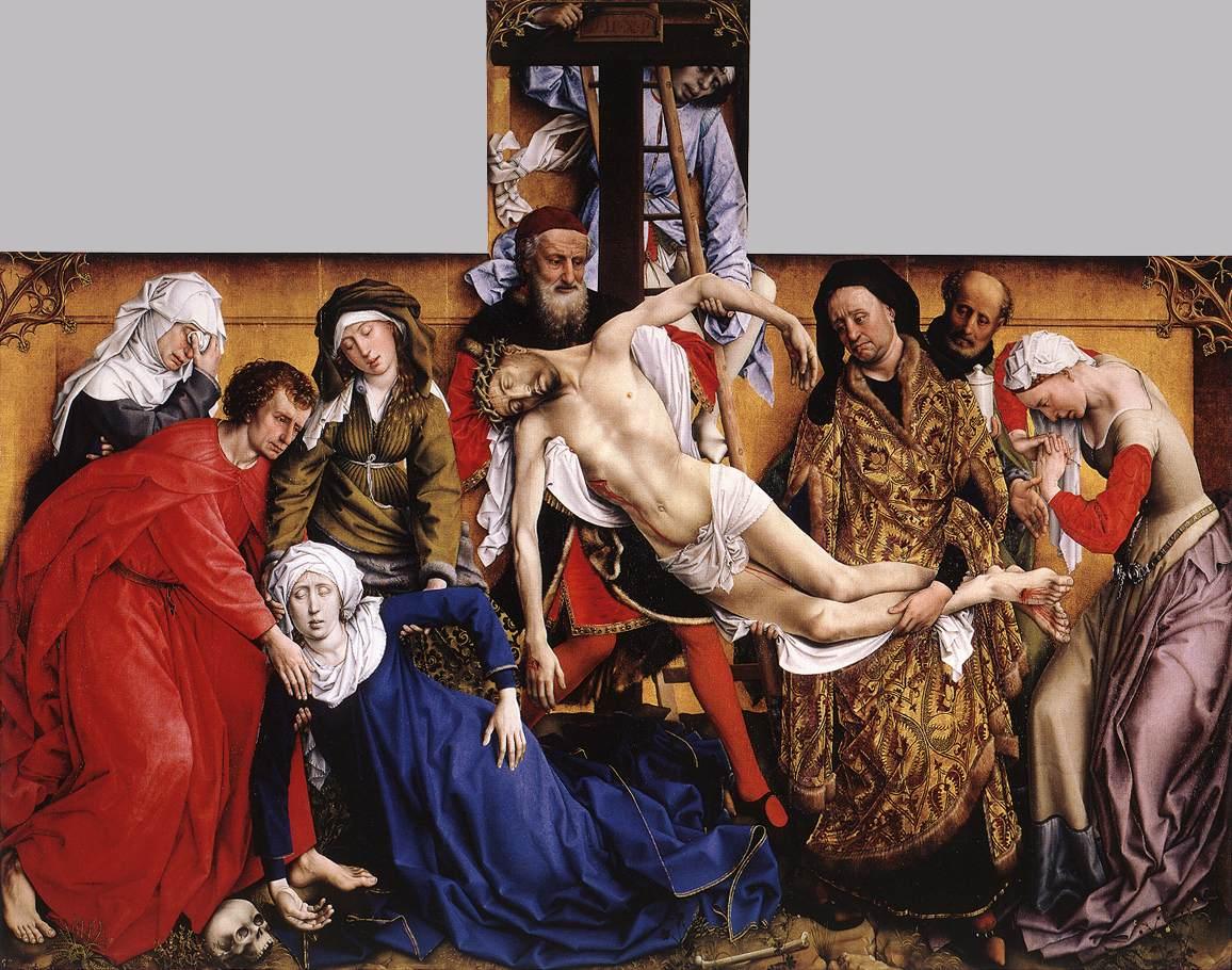Rogier van der Weyden, Deposition from the Cross, 1435,Museo del Prado, rogier van der weyden restored
