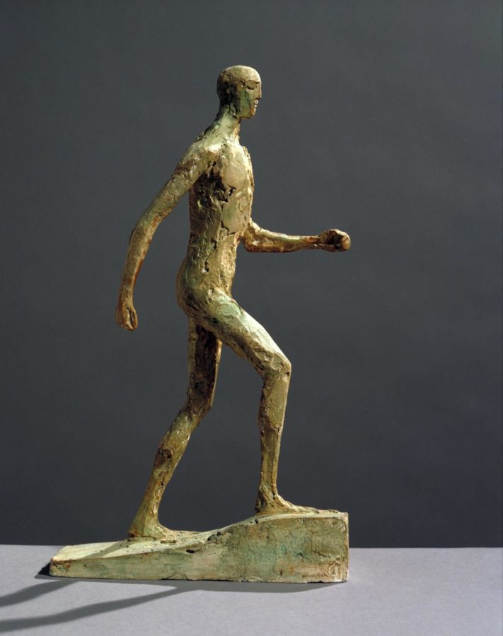 Elisabeth Frink 'Small Running Man' c.1986. Plaster and metal on plaster base. Tate Gallery, London. Image: Tate