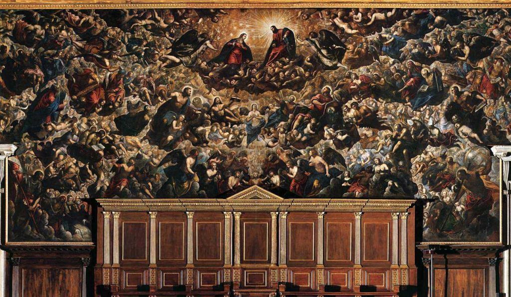 Jacopo Tintoretto 500 years Jacopo Tintoretto, Paradise, Palazzo Ducale (sala Del Maggior Consiglio)