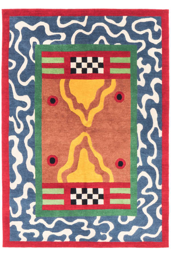 Nathalie Du Pasquier, Birds, Carpet in wool, knotted by hand, 1987, source: https://www.memphis-milano.com