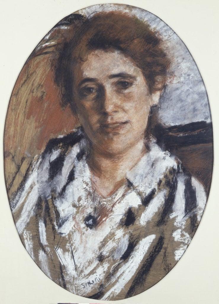 Portrait of Margherita Sarfatti, 1916-1917, Private Collection, Roma; Margherita Sarfatti at Museo del Novecento
