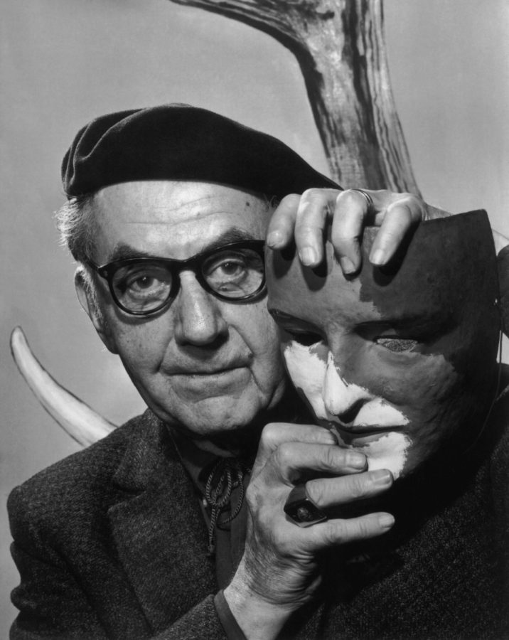 Yousuf Karsh, Man Ray, 1965. Source: https://karsh.org/photographs, man ray and his masks