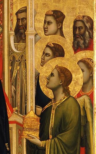 Giotto di Bondone, Ognissanti Madonna, 1306 - 1310, Galleria degli Uffizi, Florence, detail