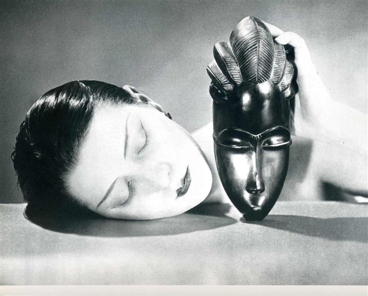 Man Ray, Kiki de Montparnasse in Man Ray, Noire et blanche (Black and white), 1926, Black and white photographic print. © Man Ray Trust / ADAGP - PICTORIGHT / Telimage - 2013, man ray and his masks