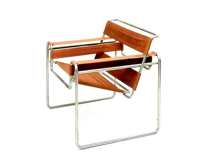 """Marcel Breuer, club chair B3 """"Wassily"""", 1925, permanent loan from Ernst von Siemens Kunststiftung, Bauhaus Museum Weimar, bauhaus turns 100"""