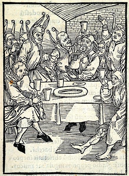 Attributed to Albrecht Dürer, from Sebastian Brant's book Stultifera navis (Ship of Fools), 1498, Library of the University of Houston, fat thursday