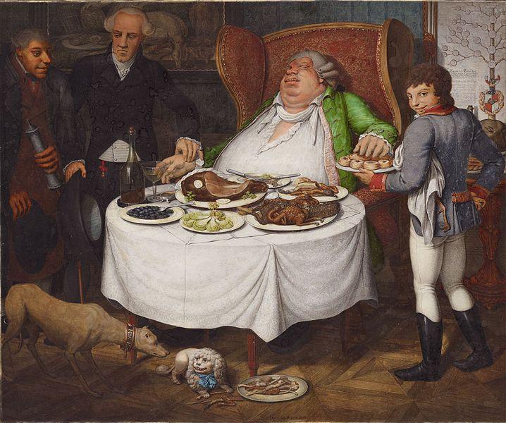 Georg Emanuel Opiz, Der Völler, 1804. private collection, fat thursday