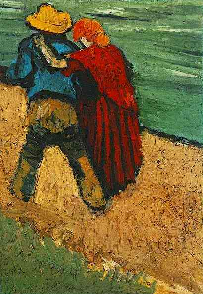 Vincent van Gogh, Two Lovers, Arles (Fragment), 1888, private collection, searching for love in art