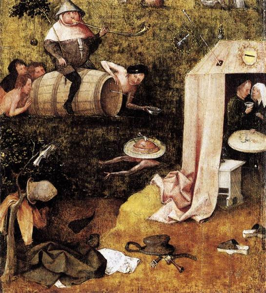 Hieronymus Bosch, Allegory of Gluttony and Lust, c.1500, Yale University Art Gallery (Yale University), New Haven, CT, US, fat thursday
