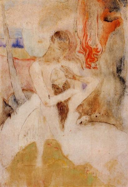 Paul Gauguin, Here we make love, c.1893, private collection, searching for love in art