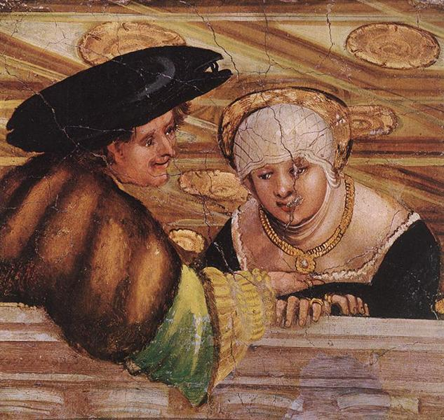 Albrecht Altdorfer, Lovers,1530, Budapest Museum of Fine Arts, Budapest, Hungary, searching for love in art