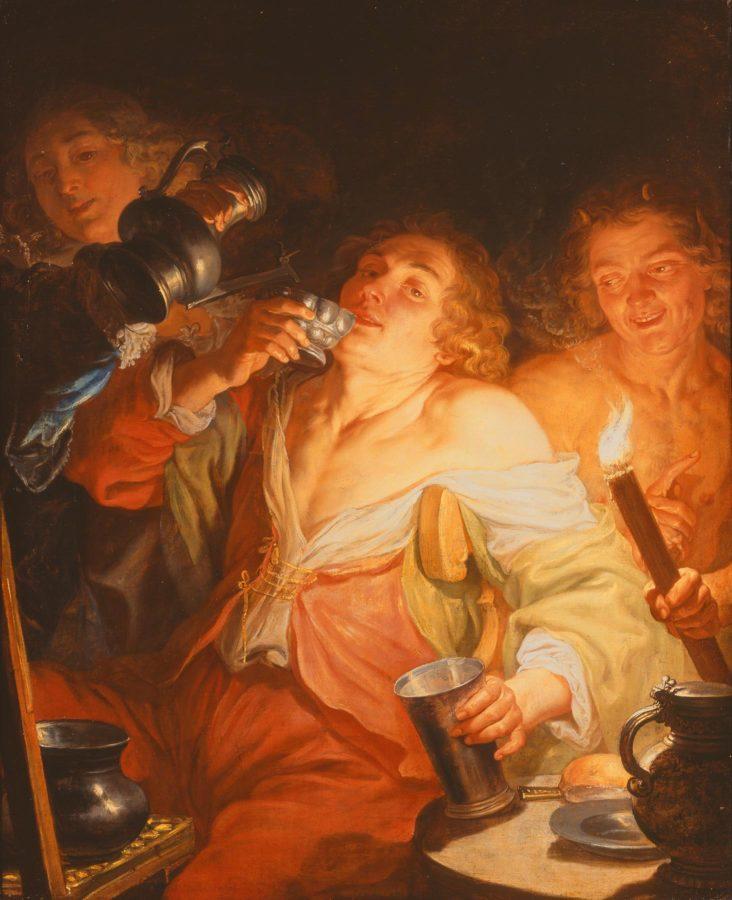 Jacques de l'Ange, Glutton, ca. 1642, Milwaukee Art Museum, fat thursday