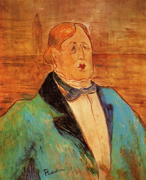Henri de Toulouse-Lautrec, Portrait of Oscar Wilde, 1895, private collection, all about oscar