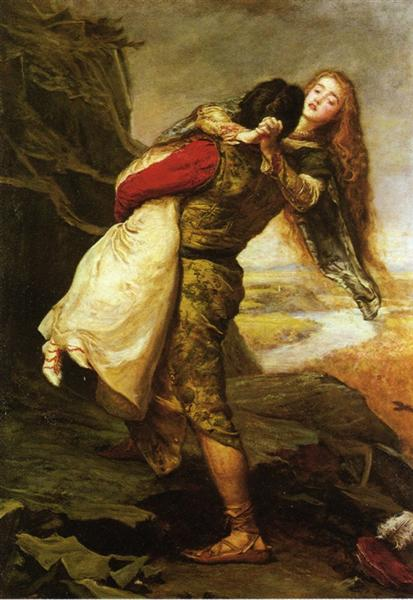 John Everett Millais, The crown of Love, 1875, private collection, searching for love in art