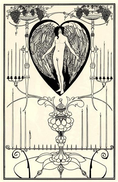 Aubrey Beardsley, The Mirror of Love, 1895, V&A, London, searching for love in art
