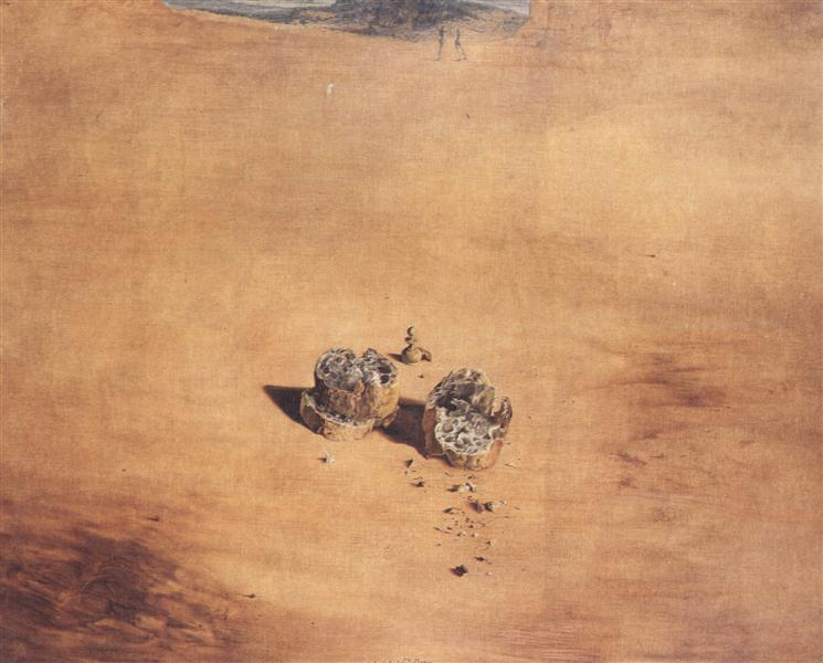 Salvador Dalí, Two Pieces of Bread Expressing the Sentiment of Love, 1940, Dalí Theatre and Museum, Figueres, Spain, searching for love in art