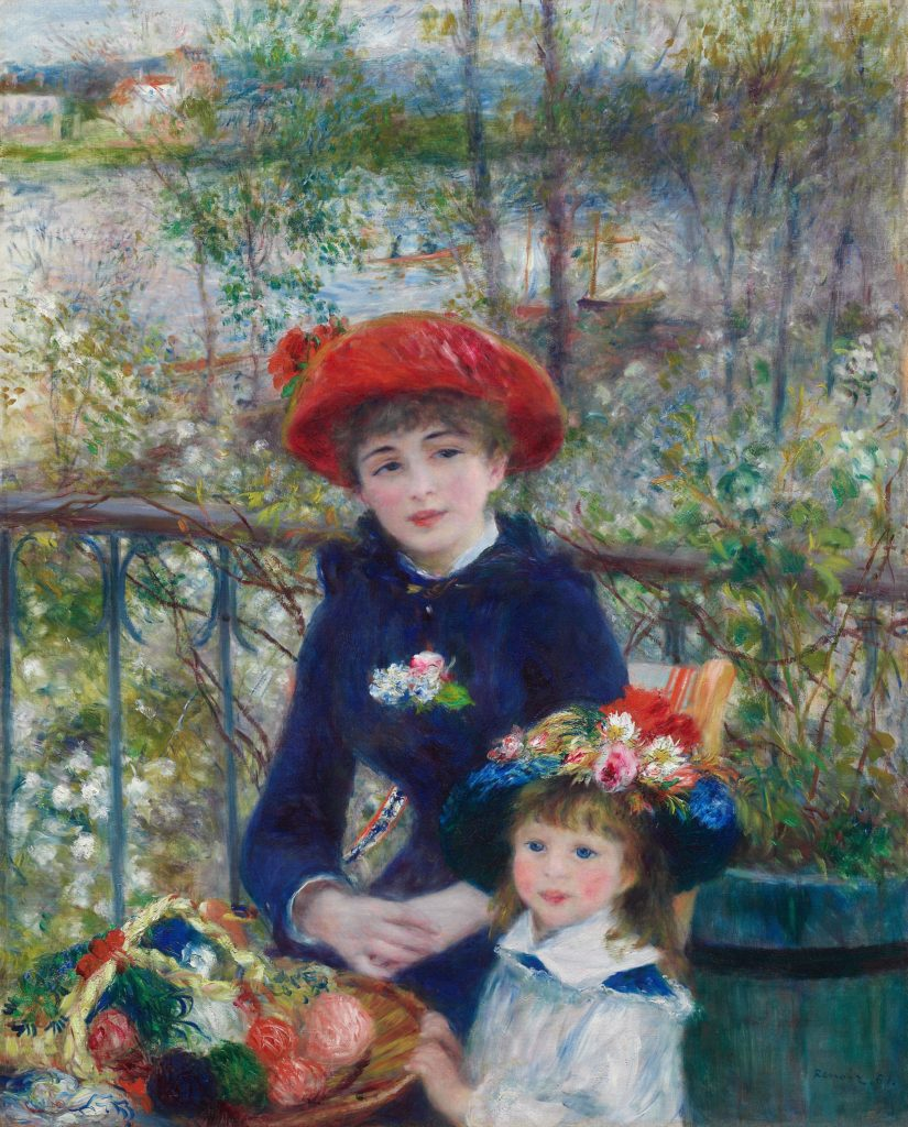Pierre-Auguste Renoir Two Sisters On the TerracePierre-Auguste Renoir Two Sisters (On the Terrace)Pierre-Auguste Renoir, Two Sisters (On the Terrace), 1881, Art Institute of Chicago