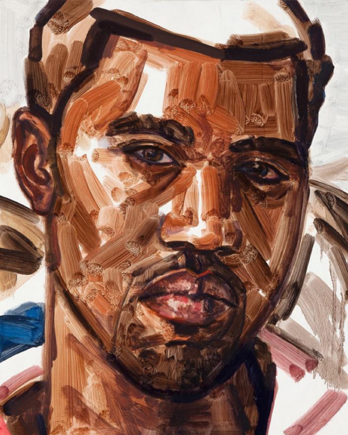 Elisabeth Peyton, Kanye West, 2010, Private collection © Elisabeth Peyton; Portrait Paintings in Digital Times