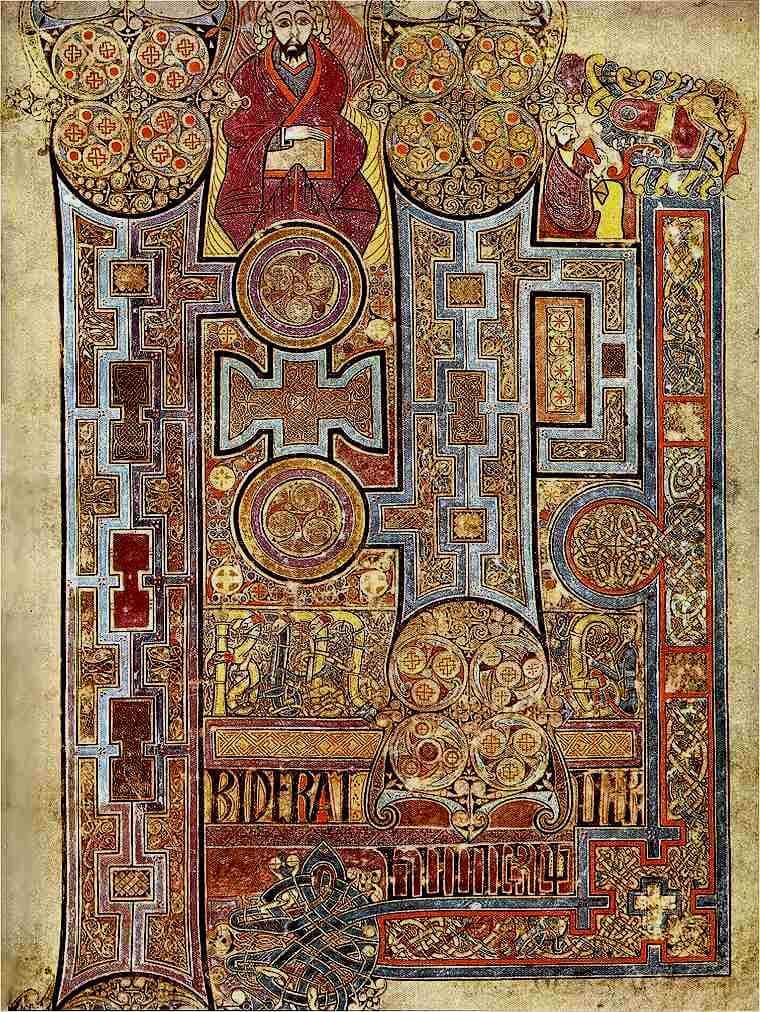 Book of Kells Fo.292r medieval Irish art
