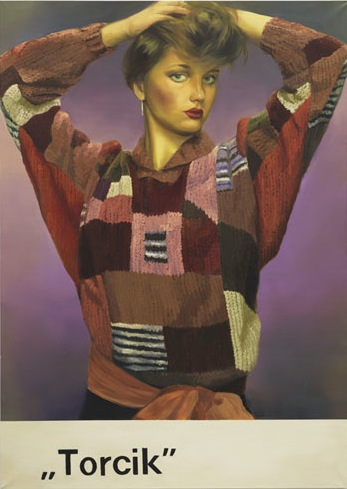 Paulina Olowska, Torcik, 2010, Private collection © Paulina Olowska; Portrait Paintings in Digital Times