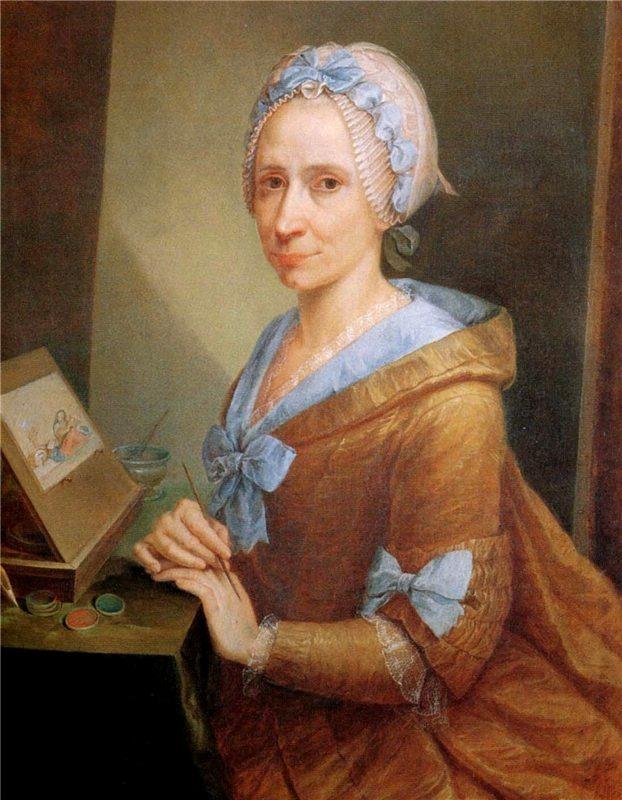 Anna Piattoli, Self portrait, c.1770, Uffizi Gallery, http://advancingwomenartists.org, awa around the world