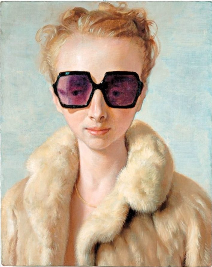 John Currin, Rachel in Fur, 2002, Private collection © John Currin; Portrait Paintings in Digital Times