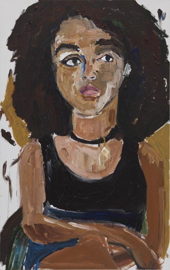 Henry Taylor, Danielle Dean, 2012, Collection of Rosalie Benitez, Malibu, CA; Portrait Paintings in Digital Times