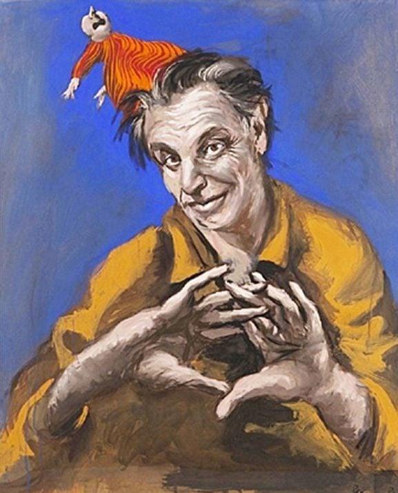 Gérard Garouste, Jeu de Malin, 2010, Private collection © Gérard Garouste; Portrait Paintings in Digital Times