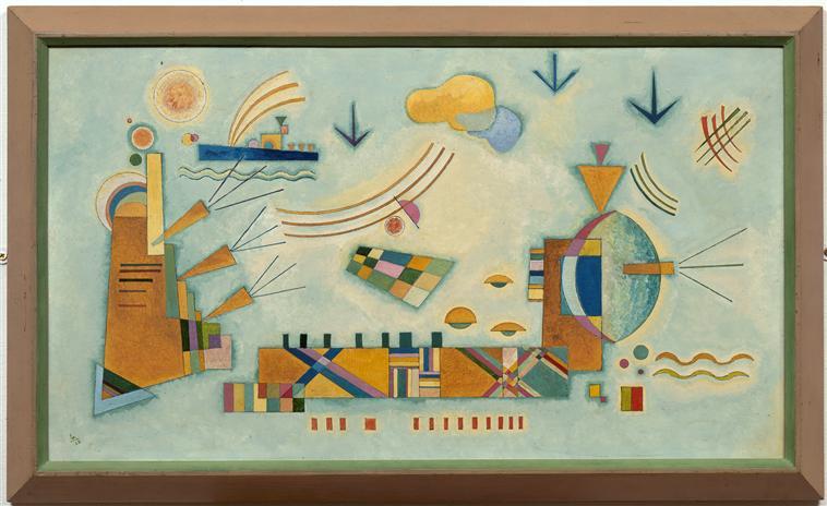 Wassily Kandinsky, Mild Process, 1928, Fine Arts Museum of Nantes, France, kandinsky's inspiration