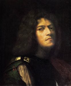 Giorgione, The Self-portrait as David, 1510, Museum of Fine Arts in Budapest