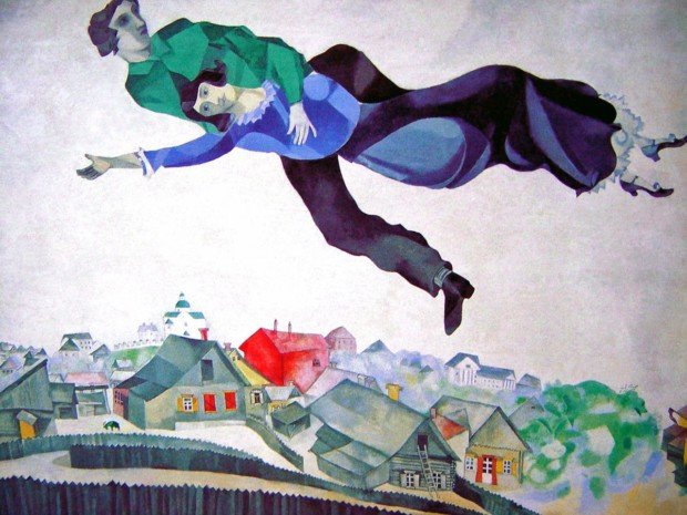 Marc Chagall, Over the Town. 1918