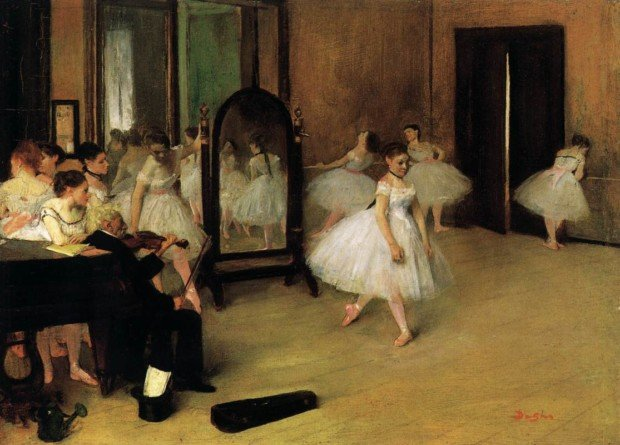 Edgar Degas, Dancing Class, c. 1870, Metropolitan Museum of Art