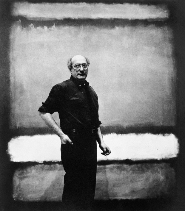Mark Rothko in front of one of his paintings