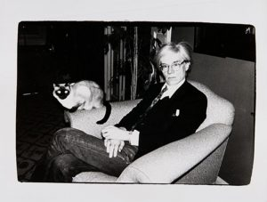 Andy Warhol with Sam