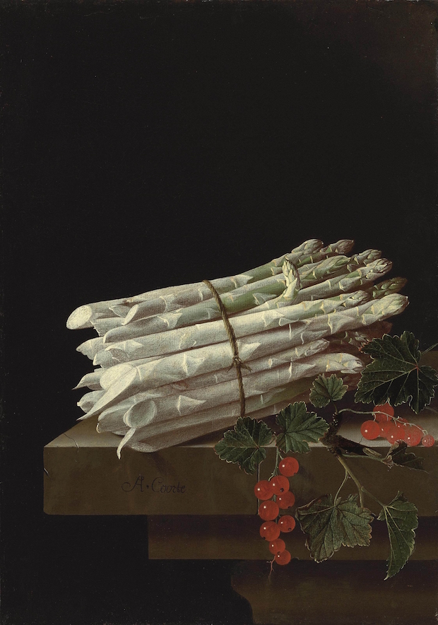Adriaen Coorte, A Bundle of Asparagus, 1703