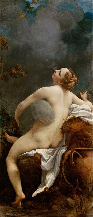Antonio da Correggio, Jupiter and Io, c. 1532–1533, Kunsthistorisches Museum. Zeus raping Io.