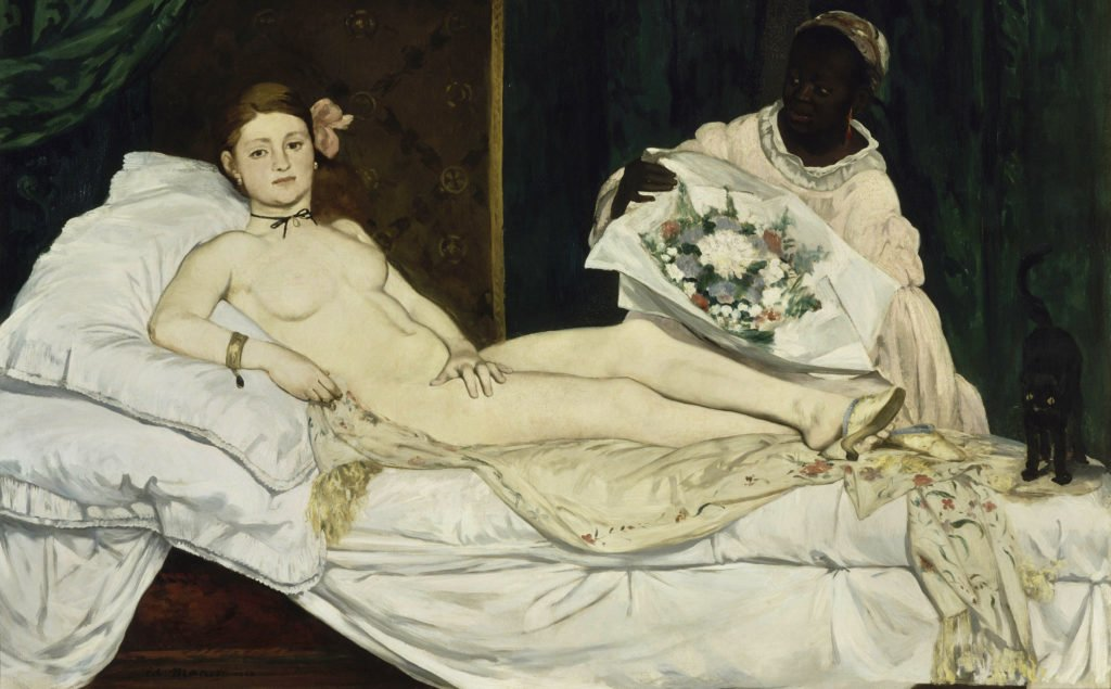 Edouard Manet, Olympia, 1856, Musee d'Orsay, Paris, Black Women in Western Art