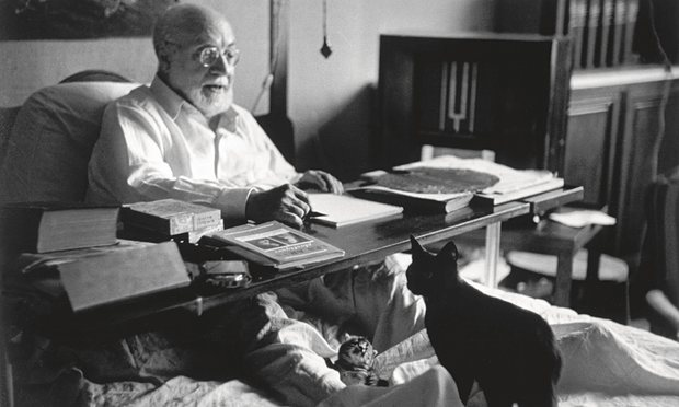Henri Matisse and his cats