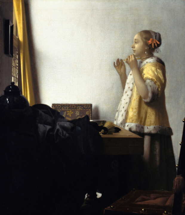 Johannes Vermeer, Woman with a Pearl Necklace,1664