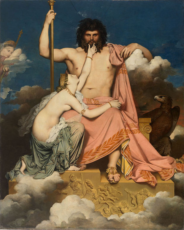 Jean Dominique Ingres, Zeus and Tetis, 1811