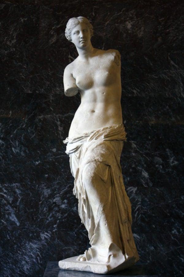 """Aphrodite, known as the """"Venus de Milo"""", C. 100 BC"""