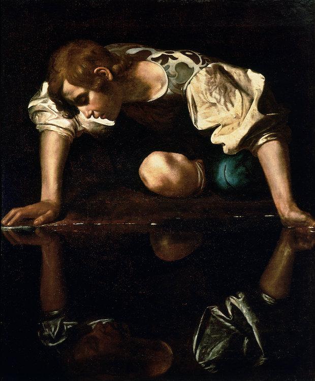 Caravaggio, Narcissus, 1596