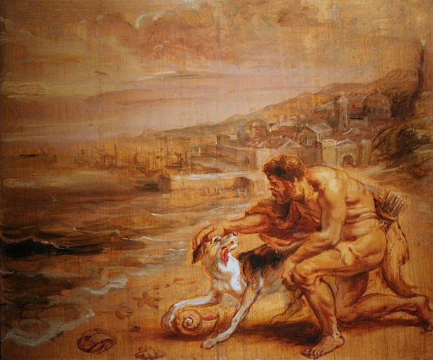 Peter Paul Rubens, Hercules' Dog Discovers Purple Dye, c.1636