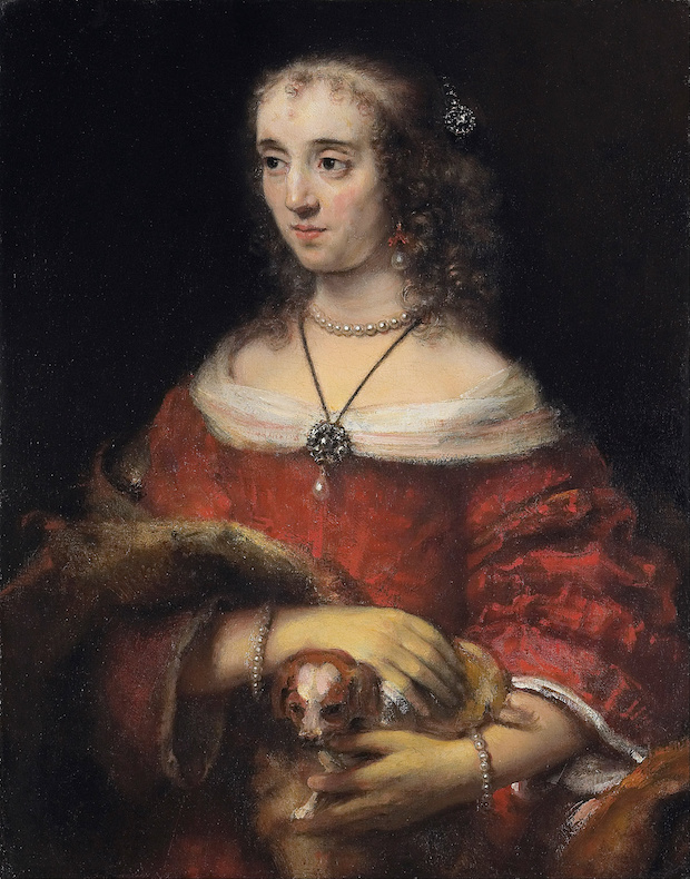 Rembrandt van Rijn, Portrait of a Lady with a Lap Dog.