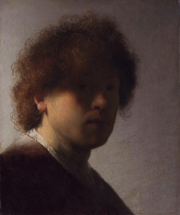 Rembrandt van Rijn, Self-portrait with dishevelled hair, c. 1628, Rijksmuseum