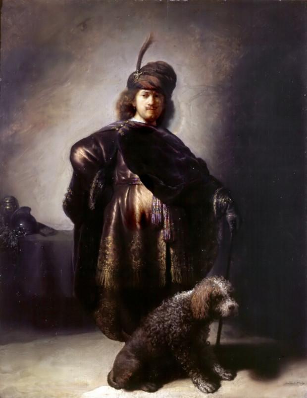 Rembrandt van Rijn, Self-Portrait in Oriental Costume with Poodle, 1631-33, Musée du Petit Palais, Paris Rembrandt's self-portraits