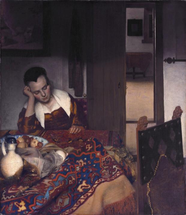 Johannes Vermeer, A Girl Asleep, 1656–1657