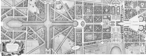 The Abbot Delagrive, Gardens and palace of Versailles,1746