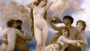 """Birth of Venus"" by William Bouguereau is shown in this undated photo released to the press on June 11, 2010. The 1879 work is on view through Sept. 6 in ``Birth of Impressionism'' at the de Young Museum in San Francisco. Source: de Young Museum via Bloomberg EDITOR'S NOTE: NO SALES. EDITORIAL USE ONLY."